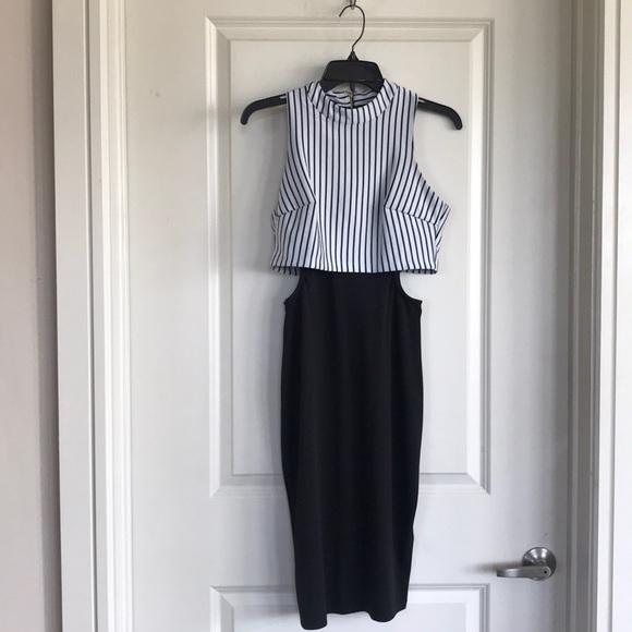bebe Dresses & Skirts - Bebe half striped dress
